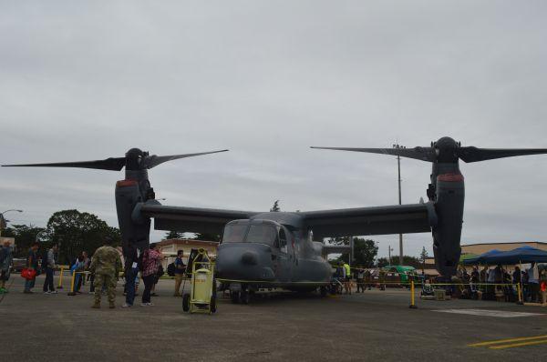 米空軍の輸送機CV22(オスプレイ)