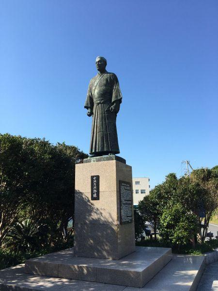 「ジョン万次郎」こと中浜万次郎の銅像