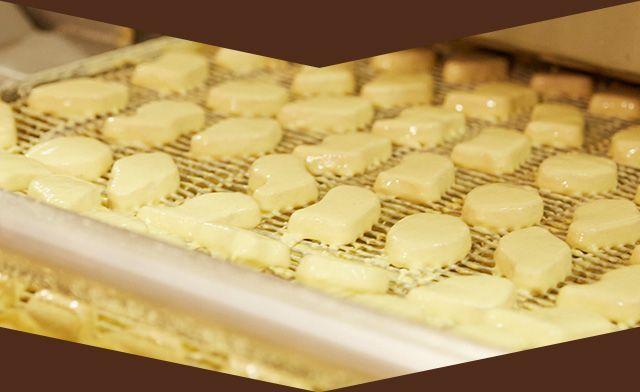 チキンマックナゲットの製造工程の一部