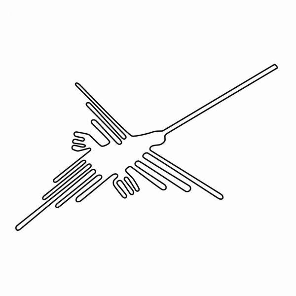「ナスカの地上絵」のハチドリ