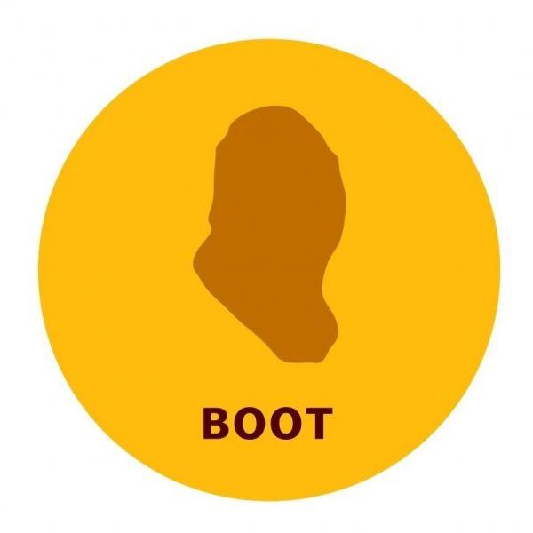 4種類の形のうちのひとつ「ブーツ」