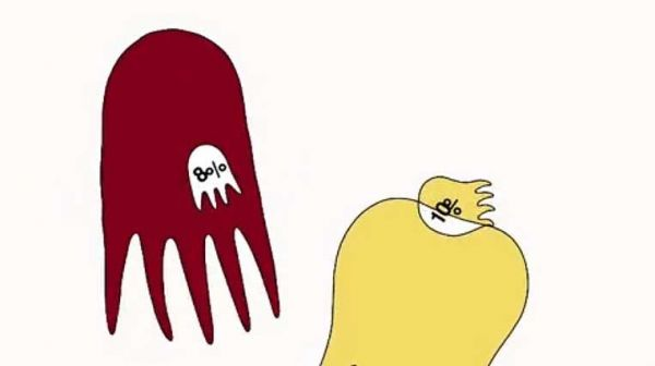 「タコのような生き物」が登場する動画の一場面