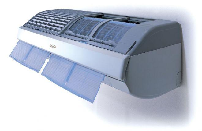 初代nocria。現在ではほとんどの高価格帯エアコンに付いているフィルター自動清掃機能を初めて搭載した機種です