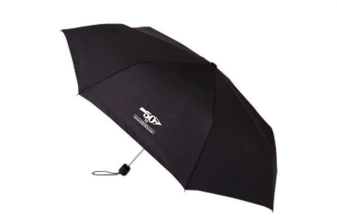 折りたたみ傘は黒・紺の2色展開