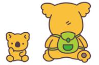 正真正銘の激レアキャラという「子どもコアラ」(左)と「リュックコアラ」ⒸL/KMP