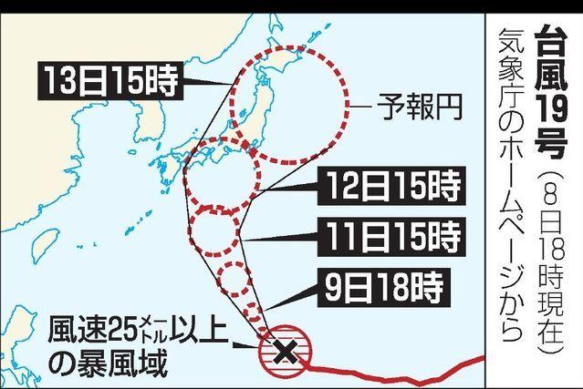 台風(たいふう)が、ちかづいています