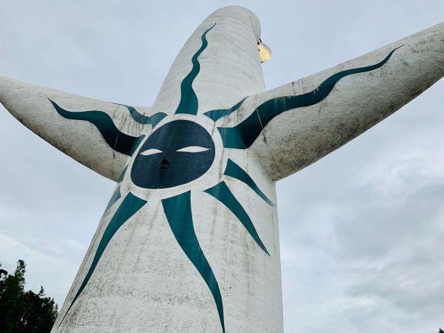 太陽の塔の背面のレリーフ「黒い太陽」