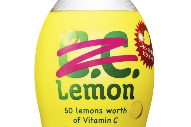 炭酸飲料C.C.レモンの「C」が消されたラベル