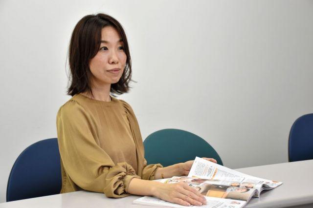 「ひよこクラブ」編集長の柏原杏子さん=東京都内