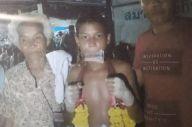 試合中に倒れ、亡くなったアヌチャー・タサコ君。育ててくれた祖父母を慕っていたという