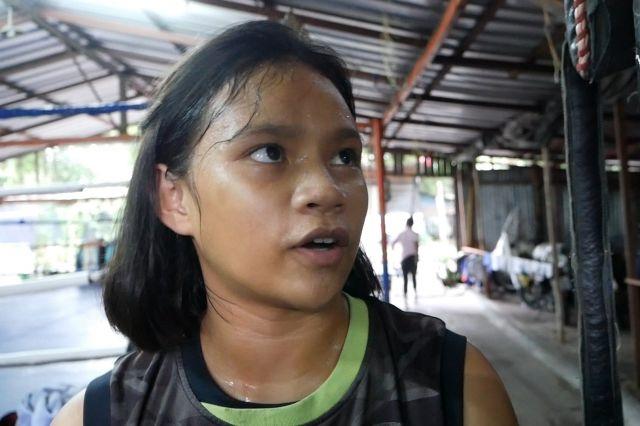 「女子で一番の選手になりたい」と話す、プンラピー・ペチュライさん=2019年7月、バンコク