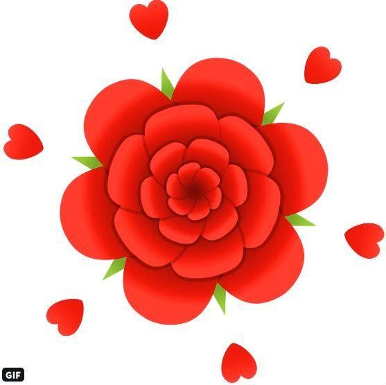 バレンタインデーには、バラの花に