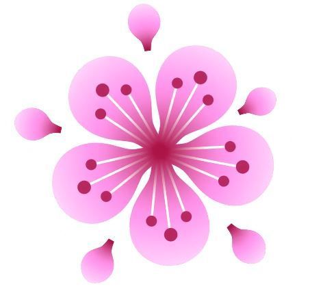 「いいね」を押すと、ハートの色が変わり、桜の花が咲くように飛び出すアニメーションが再生される仕掛け