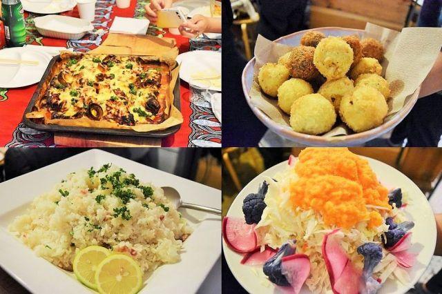 目で楽しい、食べておいしい「札幌大球コース」が振る舞われた