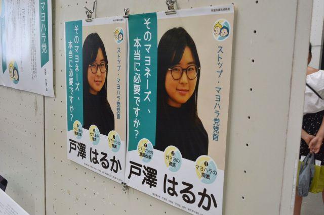 学園祭で転じされたポスター
