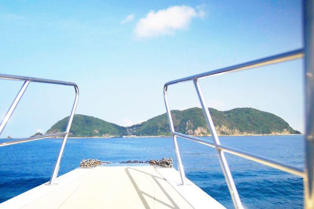 定期船から見える松島(通称:ひょうたん島)