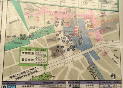 西口バスターミナルの地図