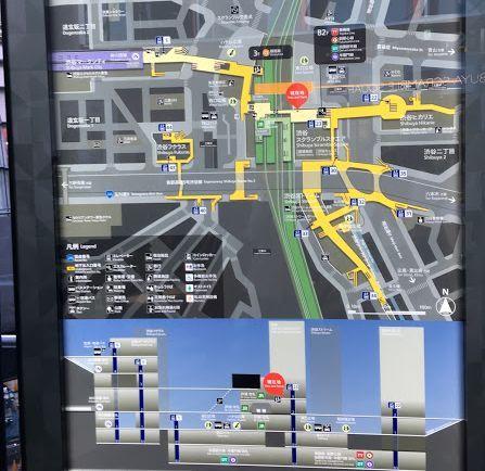 スクランブルスクエア前の地図