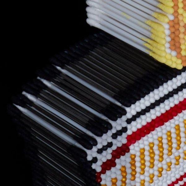 綿棒で作ったカップヌードル