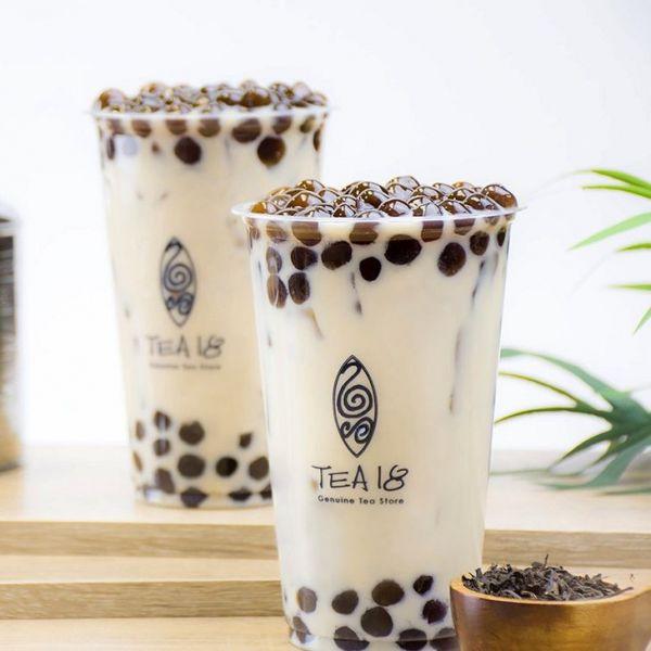 台湾茶とタピオカ専門店のアッサムを使った台湾ミルクティー=2019年4月30日
