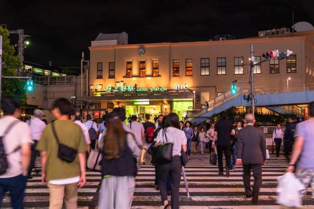 約15年前に上野駅に降り立った(写真はイメージ)