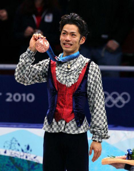 バンクーバー冬季五輪男子で銅メダルを獲得した高橋大輔=2010年2月