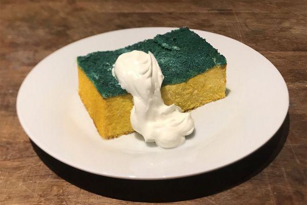 話題になっている「スポンジケーキ」。もちろん食べることができます