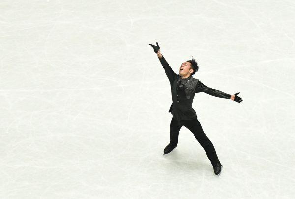 全日本選手権男子フリーで演技する高橋大輔=12月22日、恵原弘太郎撮影