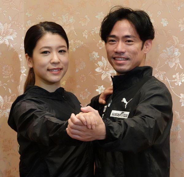 アイスダンス挑戦を表明した高橋大輔(右)、カップルを組む村元哉中