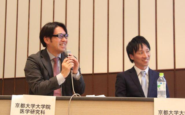 会場からの質問にも答える大塚さん(左)と山本さん