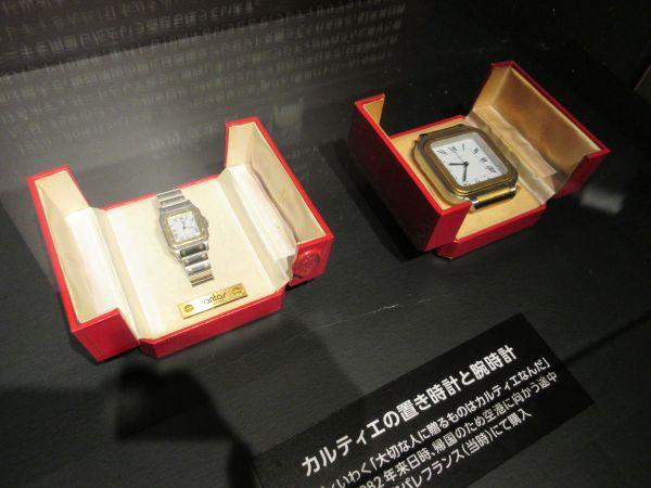 伊丹さんがフレディからもらった時計=2020年1月15日、日本橋高島屋