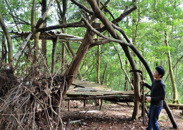 林田さんが暮らした児童養護施設があった里山の秘密基地