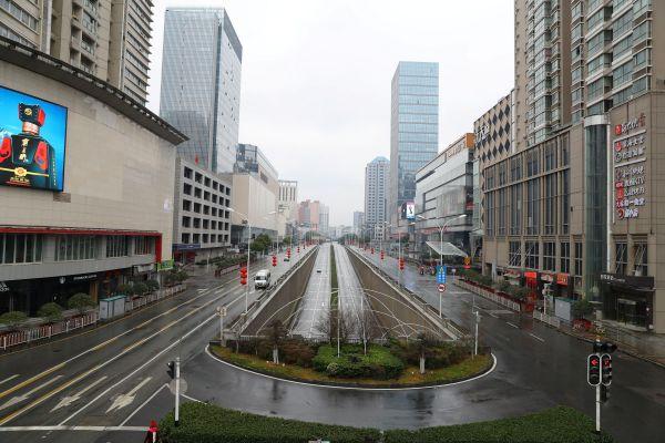 旧正月の2日目、静かな町の風景=2020年1月26日、武漢市。