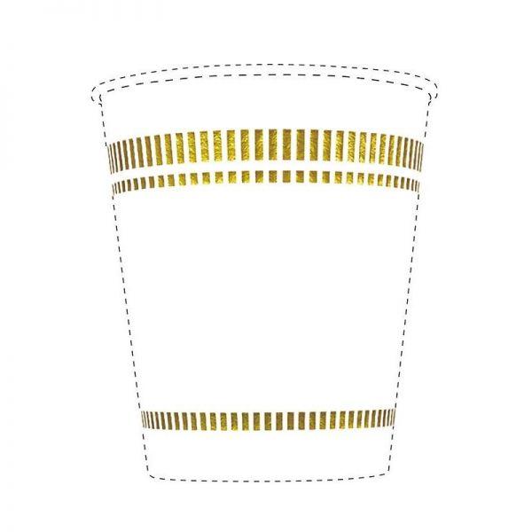 「キャタピラ」と呼ばれる帯型の図形。たしかに「!」マークに見えますが、洋皿がモチーフになっているそうです