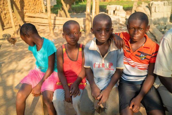 それでも喜んでくれたガーナの子どもたち