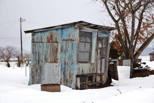 秋田県で撮影された小屋