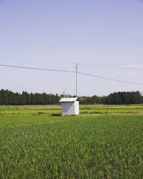 岩手県奥州市で撮影された小屋