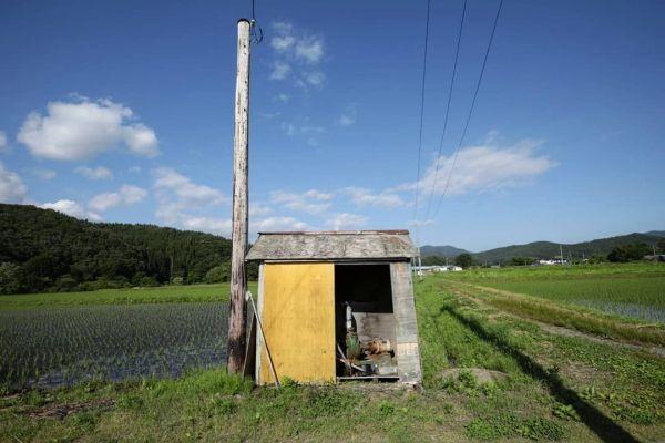 岩手県遠野市で撮影された小屋