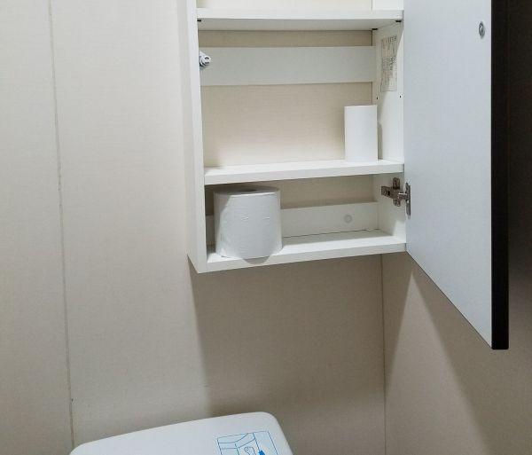 普段のトイレの棚
