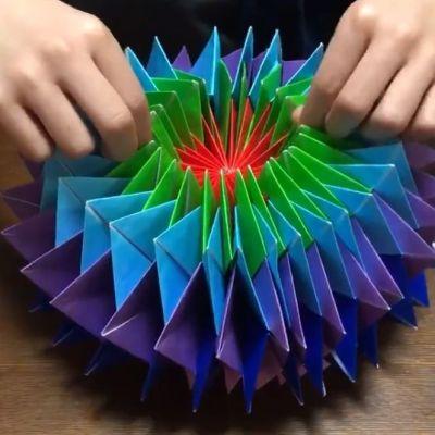 折り方 折り紙 万華鏡