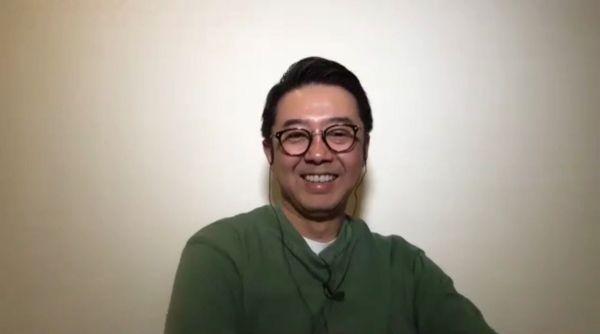 自宅から収録に参加するMCの矢作兼さん=テレビ東京提供