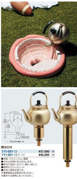 カタログに掲載された商品「魔法の水」の紹介ぺージ