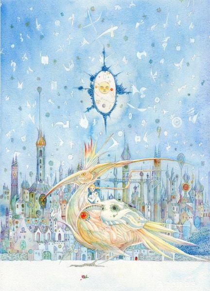 児童書などの装丁や挿絵を手がける作家となった橋さんが描いた作品