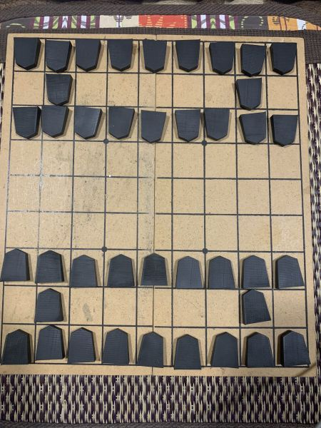 話題となった真っ黒の将棋駒
