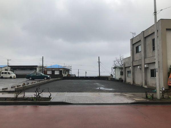 台風で被災した土産店「くぼいち」があった場所