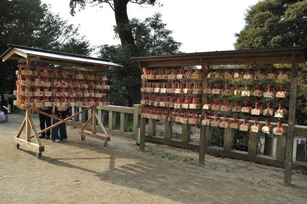 宝満宮竈門神社に奉納された絵馬の数々