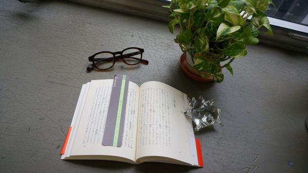 岩波書店の「岩波少年文庫」創刊70年記念フェア用に作られた「魔法のしおり」。読みたい文字列の上に、黄緑色のラインをかぶせると、集中して目を通しやすくなる。