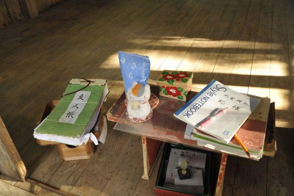 「夏目友人帳」のファンが集う各地に「友人帳」が置かれている