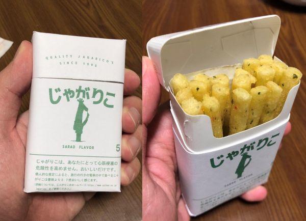 なるみさん(ツイッター:@sho_555_913)が製作した、タバコケース風のじゃがりこパッケージ