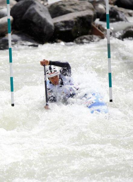 東京五輪代表に内定した男子カナディアンシングルの羽根田卓也選手。
